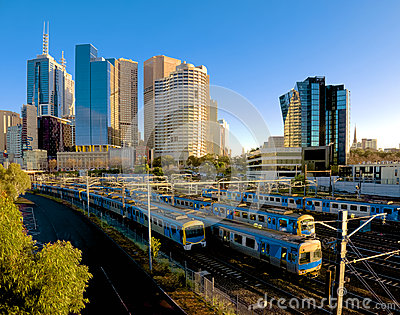 Lots of Melbourne trains