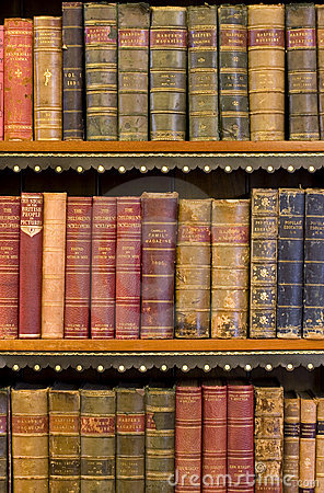 Free Lots Of Old Books In A Library Stock Photography - 3295572