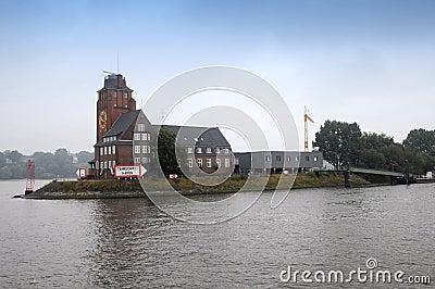 Lotsen hus i Hamburg Redaktionell Foto