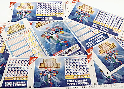 Lottery tickets Super Enalotto Editorial Image
