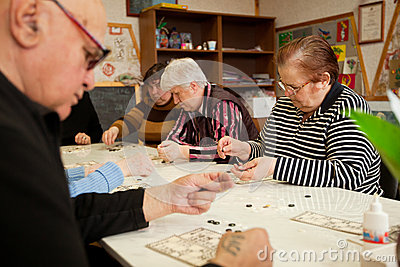 Lotto - exercises for development of attention Editorial Stock Photo