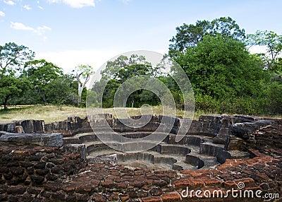 Lotus Bath, Polonnaruwa, Sri Lanka