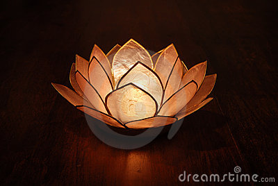 Lotus Candle Holder Amp Candle Stock Images Image 4767784
