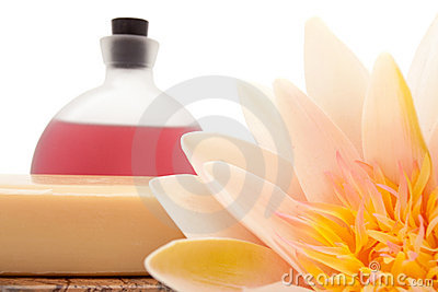 Lotus, essential oils and bath soap