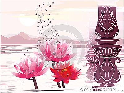 Lotus in the fantastic atmosphere