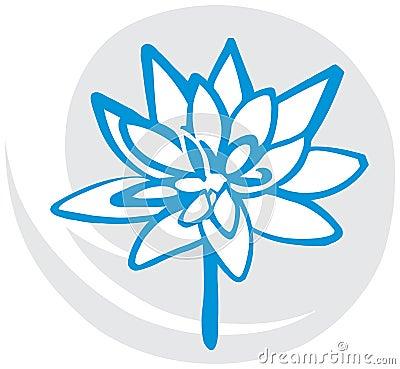 Lotus Flower in Blue
