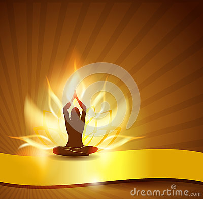 Free Lotus Flower- Fire And Yoga Royalty Free Stock Photo - 26928335