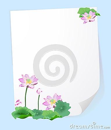 Lotus flower frame