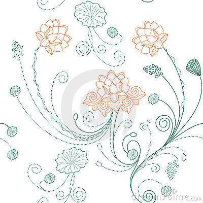 lotus bloom on lotus flower pattern royalty free stock images image