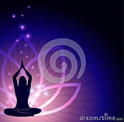 Lotus flower and yoga