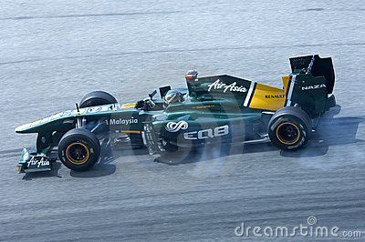 Lotus Formula One Team: Davide Valsecchi Editorial Stock Image
