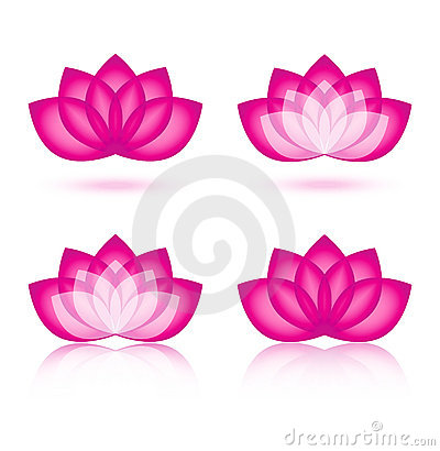 Free Lotus Icon And Logo Design Royalty Free Stock Image - 22032896