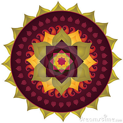 Lotus Mandala Vector Illustration