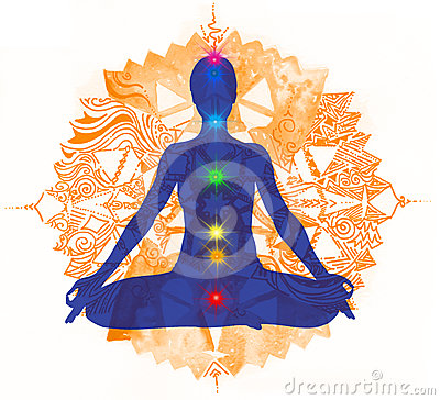 Lotus pose and chakra points 2