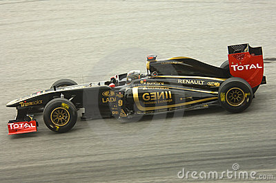 Lotus-Renault Formula One Team: Nick Heidfeld Editorial Stock Image