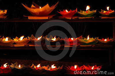 Lotus shaped candles
