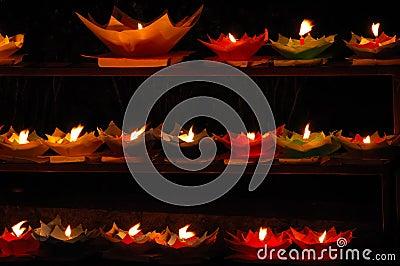 Lotus shaped candles