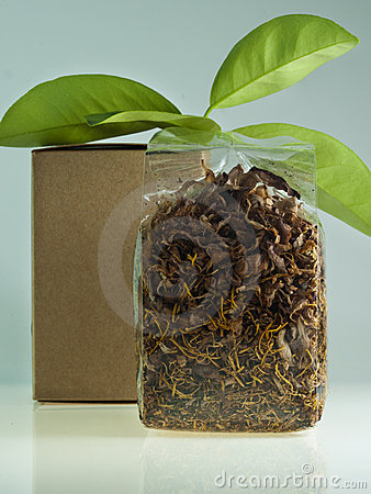 Lotus tea dry in the bag