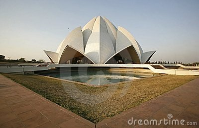 Lotus temple in the evening light, delhi