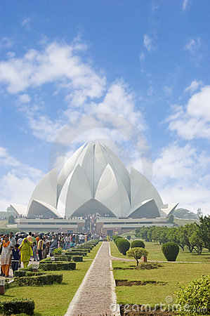 Free Lotus Temple In Delhi India Royalty Free Stock Images - 9270909