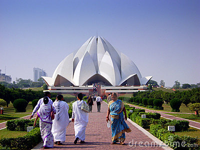 Lotus temple - India Editorial Stock Image