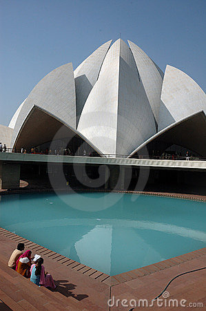 LOTUS TEMPLE IN NEW DELHI-INDIA. Editorial Stock Photo