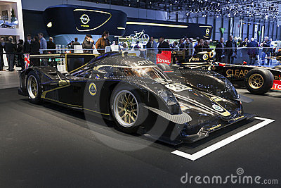 Lotus V8 LMP2 Prototype Race Car Editorial Image