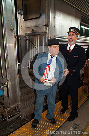 Lou Costello at Troop Train Editorial Photo