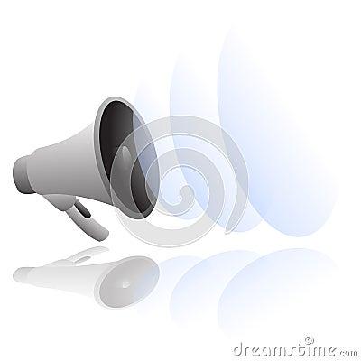 Loud megaphone vector