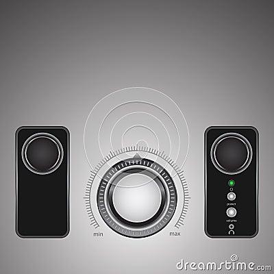 The loudness regulator Vector Illustration