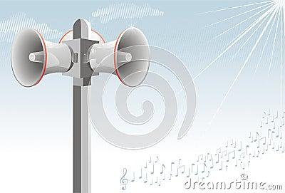 Loudspeaker alarm alert