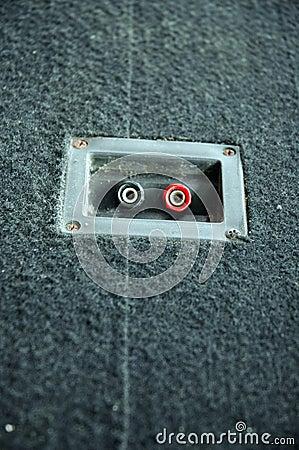 Loudspeaker plug holes