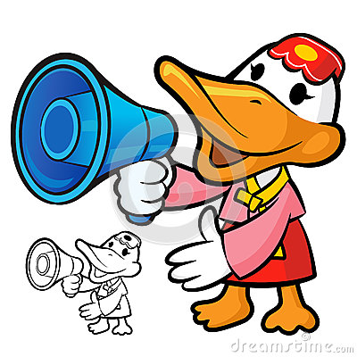 Loudspeaker to promote Korea duck