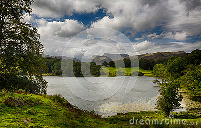 Loughrigg Tarn in Lake District