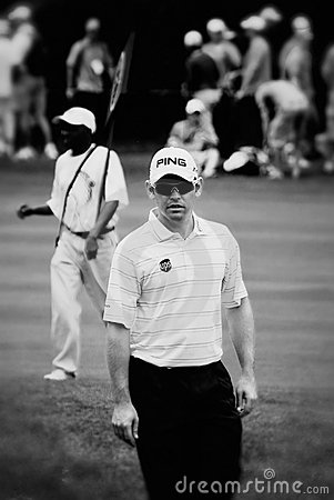 Louis Oosthuizen on the Fairway Editorial Photo