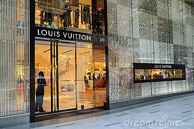 Louis Vuitton boutique Editorial Photo