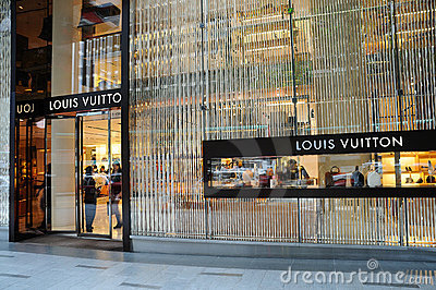 Louis Vuitton boutique Editorial Stock Image