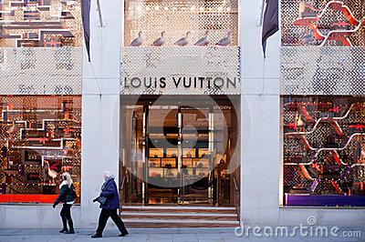 Louis Vuitton boutique in London Editorial Photo