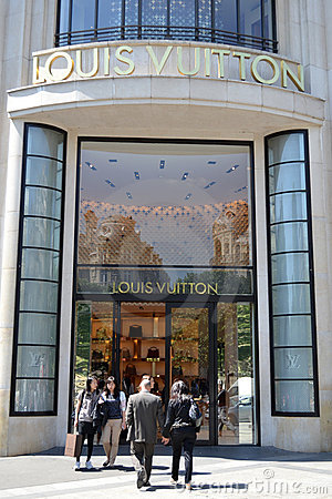 Louis Vuitton Boutique Paris Editorial Photography