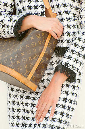 Louis Vuitton Monogram Bag and Chanel Editorial Photo
