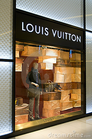 Louis Vuitton Shop window display Editorial Photo