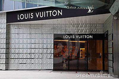 Louis Vuitton Store Editorial Photo