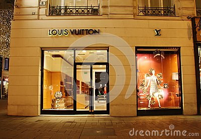 Louis Vuitton store Editorial Stock Photo
