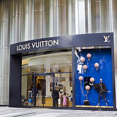 Louis Vuitton Store in ION Centre Editorial Stock Photo