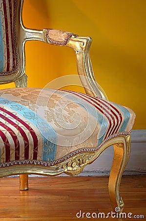 Louis XV arm-chair detail