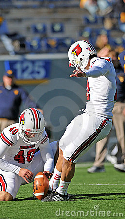 Louisville Cardinals kicker Chris Philpott Editorial Stock Photo
