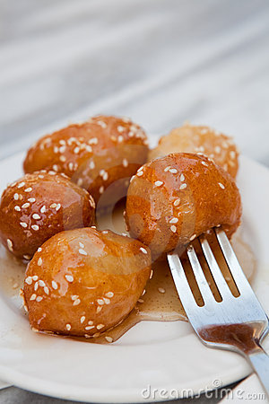 Free Loukoumades, A Greek Dessert Royalty Free Stock Image - 20950116