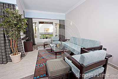 Lounge in a hotel suite