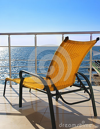 Lounger on the balcony