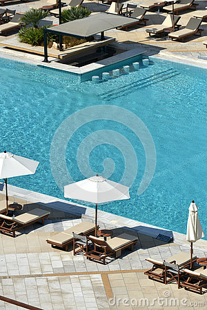 Loungers And Pool Stock Photo Image 79974307